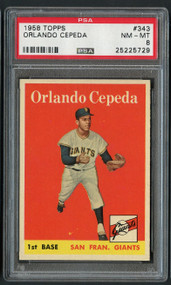1958 Topps Orlando Cepeda #132 HOF Rookie RC PSA 8-Centered