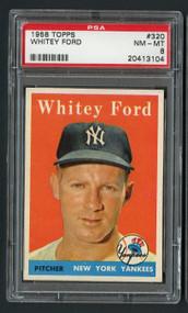 1958 Topps Whitey Ford #320 HOF PSA 8-Centered & High-End