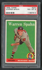 1958 Topps Warren Spahn #270 HOF PSA 8 Near Mint