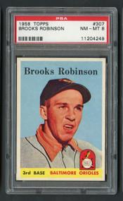 1958 Topps Brooks Robinson #307 HOF PSA 8-Centered & High-End