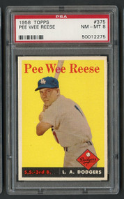 1958 Topps Pee Wee Reese #375 HOF PSA 8-Centered & High-End
