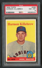 1958 Topps Harmon Killebrew #288 HOF PSA 8-Centered