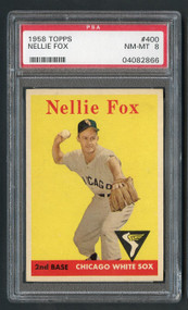 1958 Topps Nellie Fox #400 HOF PSA 8 - Centered