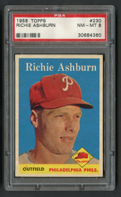 1958 Topps Richie Ashburn #230 HOF PSA 8 - Centered