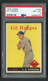 1958 Topps Gil Hodges #162 PSA 8-Centered & High-End