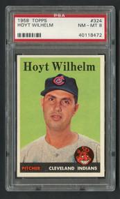 1958 Topps Hoyt Wilhelm #324 HOF PSA 8 Near Mint