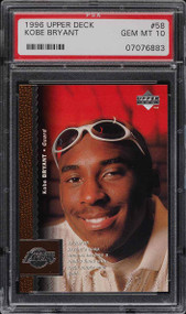 1996 Upper Deck Kobe Bryant Rookie #58 RC PSA 10 Gem Mint