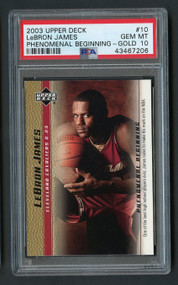 2003 Upper Deck PB Gold Lebron James Rookie #10 PSA 10 Gem Mint