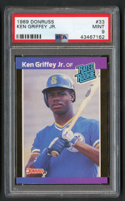 1989 Donruss Ken Griffey, Jr. Rookie RC #33 PSA 9 Mint