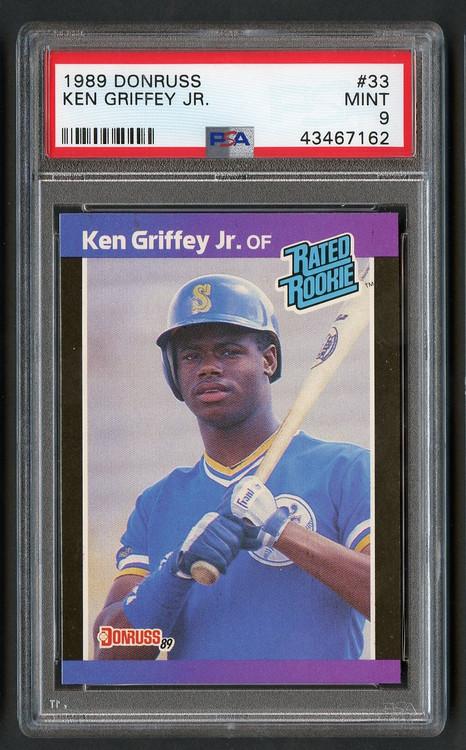 1989 Donruss Ken Griffey, Jr. Rookie RC #33 PSA 9 Mint