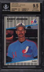 1989 Fleer Randy Johnson ROOKIE RC MARLBORO AD ERROR BGS 9.5 GEM MINT