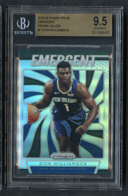 2019 Prizm Emergent Silver Zion Williamson BGS 9.5 Gem Mint