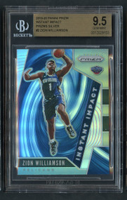 2019 Prizm Instant Impact Silver Zion Williamson Rookie RC BGS 9.5 Gem Mint