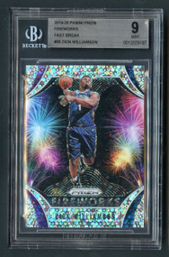 2019 Prizm Fireworks Fast Break Zion Williamson Rookie BGS 9-SP