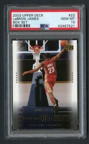 2003 Upper Deck Box Lebron James Rookie RC #22 PSA 10 Gem Mint