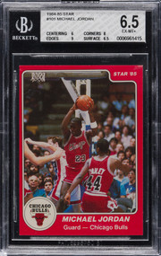 1984 Star Company Michael Jordan Rookie RC #101 BGS 6.5 EX to Mint-Holy Grail