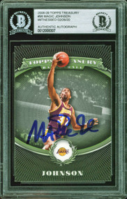 2008 Topps Treasury Magic Johnson Auto #98 Beckett Witnessed-100% Authentic