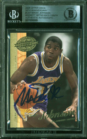 2000 UD 20th Anniversary Magic Johnson Auto Beckett Witnessed-100% Authentic