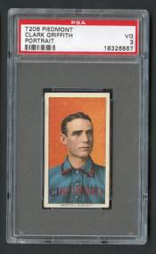 1909 T206 Piedmont Clark Griffith Portrait HOF PSA 3