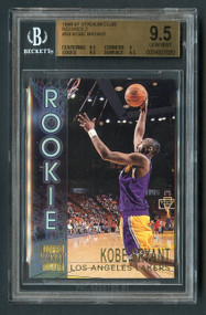 1996 Stadium Club Rookie 2 Kobe Bryant RC R9 BGS 9.5 Gem Mint