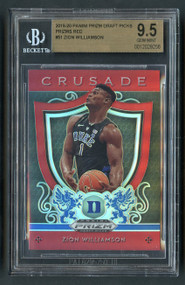 2019 Prizm Crusade Red Zion Williamson Rookie RC BGS 9.5 Gem Mint