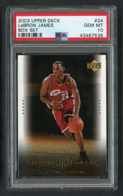 2003 Upper Deck Box Lebron James Rookie RC #24 PSA 10 Gem Mint