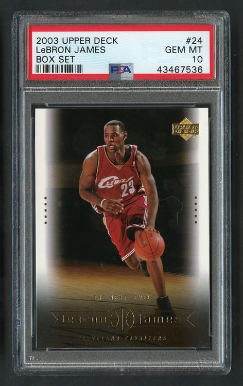 2003 Upper Deck Box Lebron James Rookie RC #24 PSA 10 Gem Mint