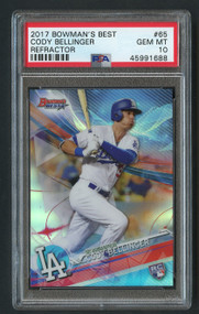2017 Bowman Best Refractor Cody Bellinger Rookie RC PSA 10 Gem Mint