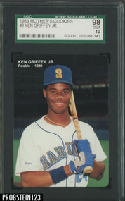 1989 Mother's Cookies Ken Griffey, Jr. #3 HOF  SGC 10 Gem Mint