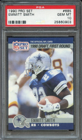 1990 Pro Set Emmitt Smith Rookie RC HOF #685 PSA 10 Gem Mint