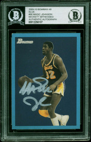 2009 Bowman 48 Blue Magic Johnson Auto/Signed #88 BAS Authentic/1949