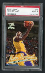 1996 Ultra Kobe Bryant Rookie RC #52 HOF PSA 9 Mint