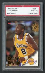 1996 Hoops Kobe Bryant Rookie RC #281 Rookie RC PSA 9 Mint