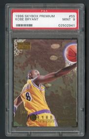 1996 Skybox Premium Kobe Bryant Rookie RC #55 PSA 9 Mint-Super High-End