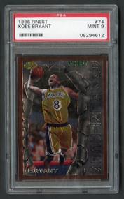 1996 Finest Kobe Bryant Rookie RC #74 PSA 9 Mint-No Coating & Super High-End