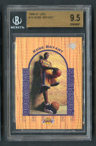 1996 UD3 Kobe Bryant Rookie RC #19 HOF BGS 9.5 Gem Mint (subs on back)