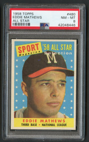 1958 Topps Eddie Mathews All Star PSA 8