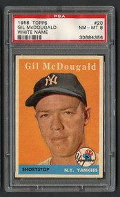 1958 Topps Gil McDonald #20 PSA 8 Near Mint-Yankees