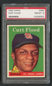 1958 Topps Curt Flood #464 PSA 8-Centered