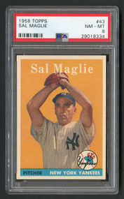 1958 Topps Sal Maglie #43 PSA 8 Near Mint-Yankees