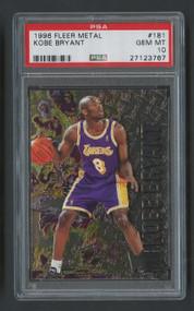 1996 Fleer Metal Kobe Bryant Rookie RC HOF  #181 PSA 10 Gem Mint