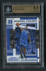2019 Contenders School Colors Zion Williamson Rookie RC #1 BGS 9.5 Gem Mint