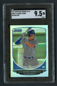 2013 Bowman Chrome DPP Aaron Judge Rookie RC Refractor SGC 9.5