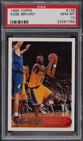 1996 Topps Kobe Bryant Rookie RC #138 PSA 10 Gem Mint