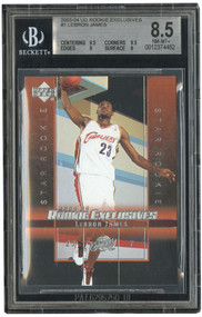 2003 UD EXCLUSIVES LEBRON JAMES Rookie RC #1 BGS 8.5-SUPER HIGH-END