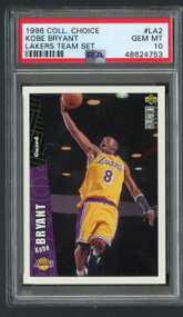 1996 Coll. Choice Kobe Bryant Rookie RC #LA2 PSA 10 Gem Mint