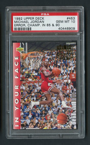 1992 Upper Deck Michael Jordan Error Champ '85/'92 PSA 10 Gem Mint