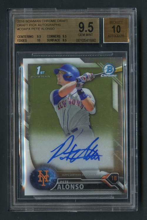 2016 Bowman Chrome Draft Pete Alonso Rookie RC PSA 10 Gem Mint