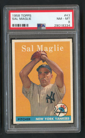 1958 Topps Sal Maglie #43 PSA 8 Near Mint-Centered