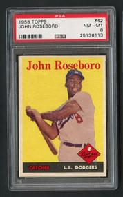 1958 Topps John Roseboro #42 PSA 8 Near Mint